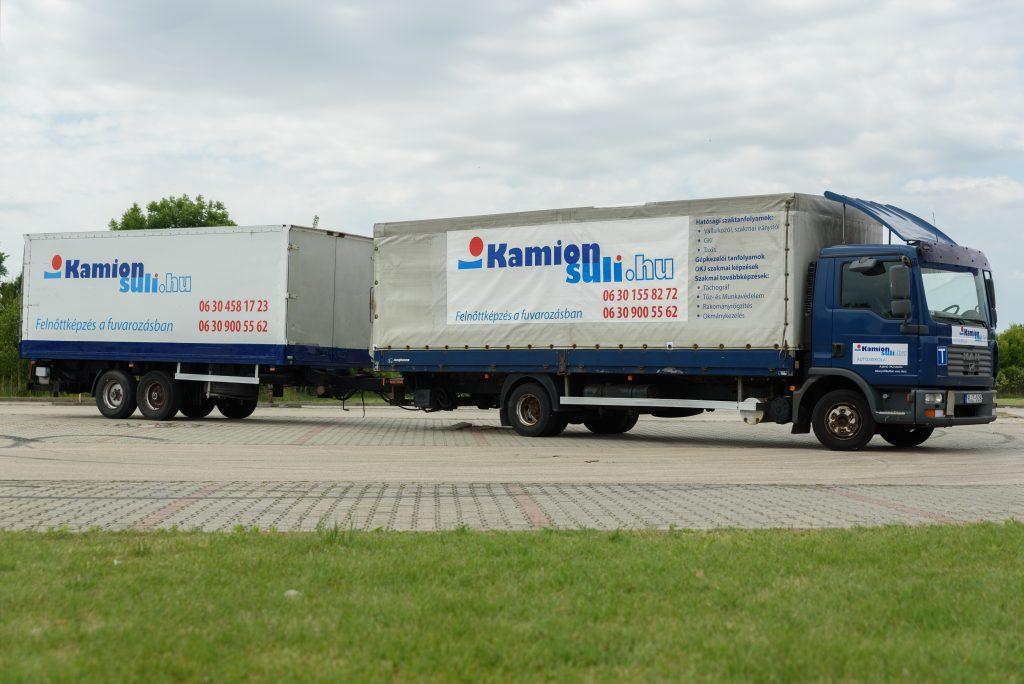 MAN TGL és HOFFMANN LPR 10.5 T pótkocsi (C, CE kategória)